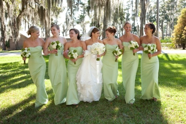 Green Bridesmaid Dresses in Southern Park