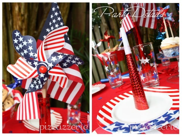 July 4th Party Windmills and Details