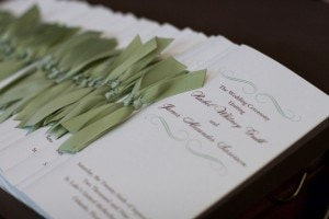 Green Wedding Programs