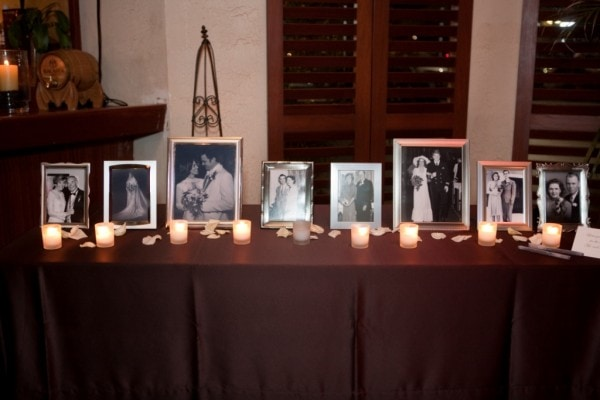 Wedding Family Photo Table