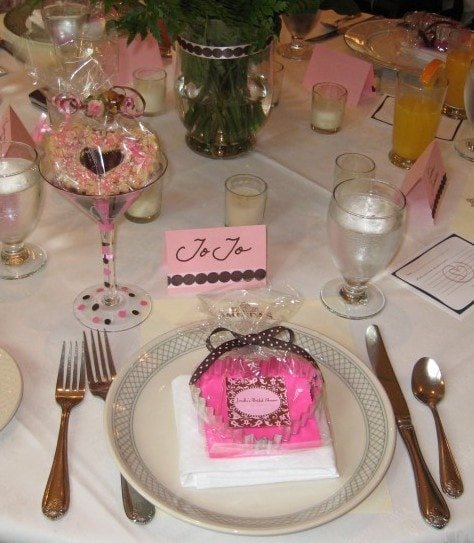 Pink Bridal Shower Place Setting