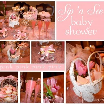 Pink Sip 'n See Baby Shower