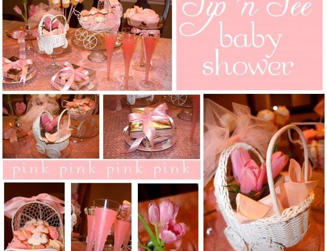 Pink Sip 'n See Shower