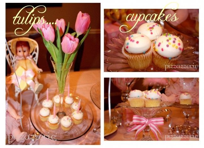 Pink Tulips and Mini Cupcakes