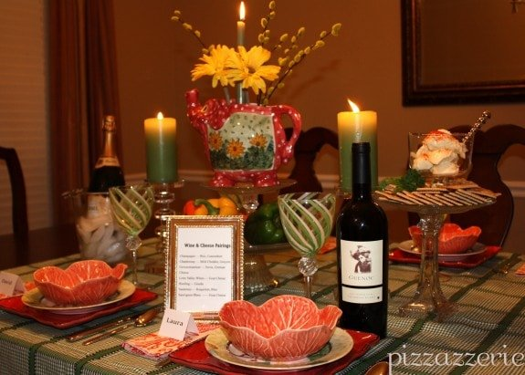 Wine and Cheese Dinner Party