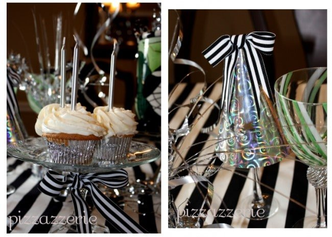 Black and White Cupcakes Cat Party