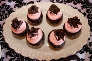 Pink Chocolate Cupcakes