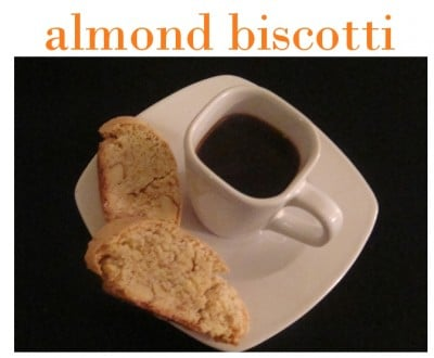 almond biscotti picture and recipe