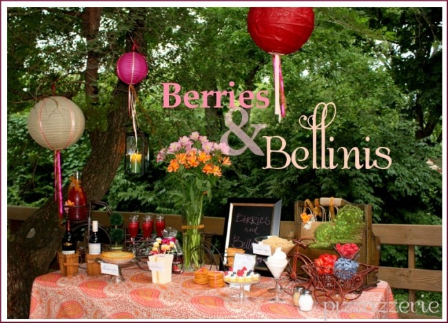 berries and bellinis party table