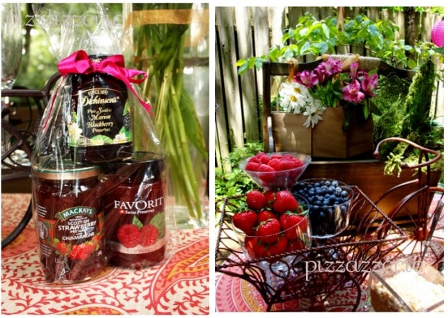 berry jams at berries and bellinis party