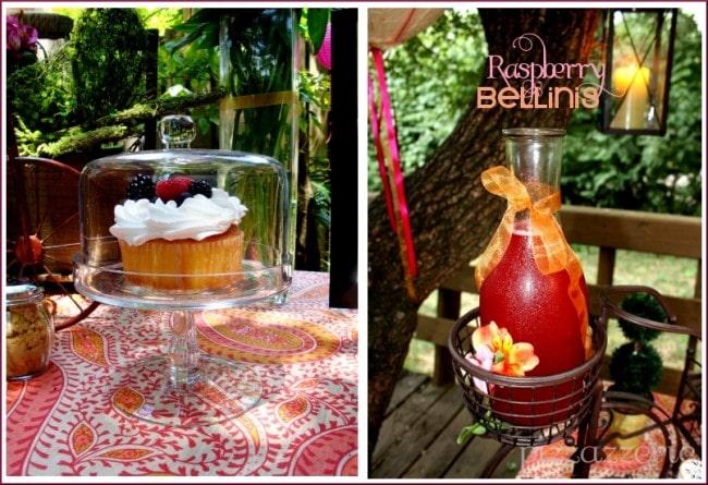 Raspberry bellini and berry cupcake