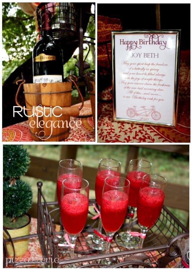 rustic elegance bellini party
