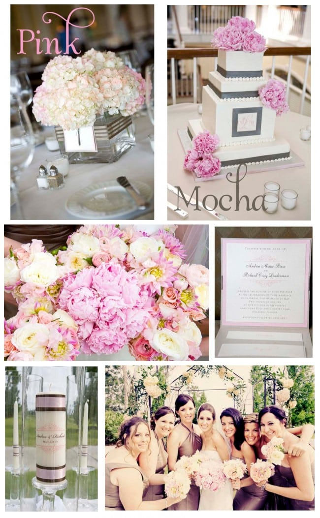 Pink and Mocha Wedding