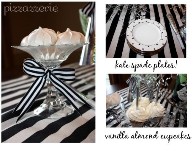 kate spade plates vanilla almond cupcakes