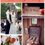 Rustic Vintage Peach Wedding at Farm