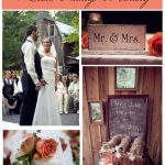 Rustic Vintage Peach Wedding at Farm