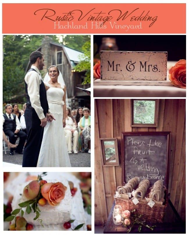 rustic vintage wedding on farm