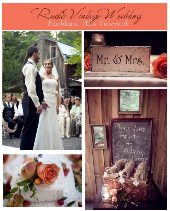 rustic vintage wedding on farm