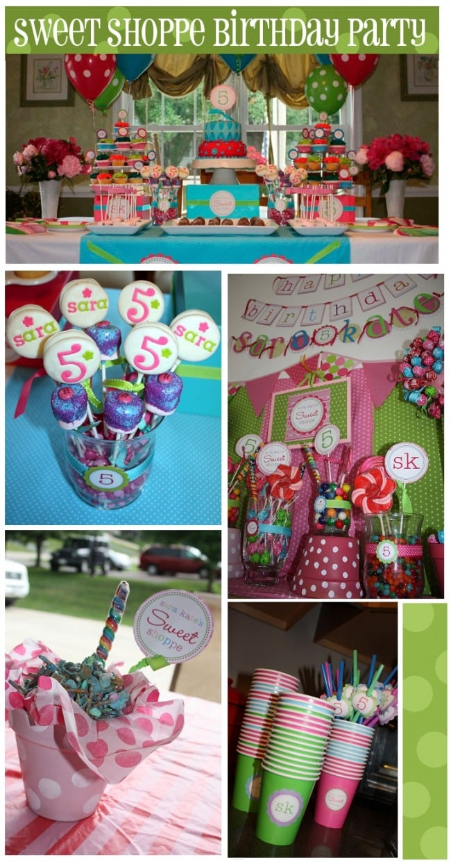 Sweet Shoppe 5th Birthday Party