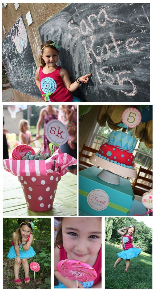 5th Birthday Pink and Blue and Green