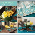 Peacock Sip 'n See Turquoise and Teal