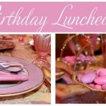 pink and purple birthday luncheon