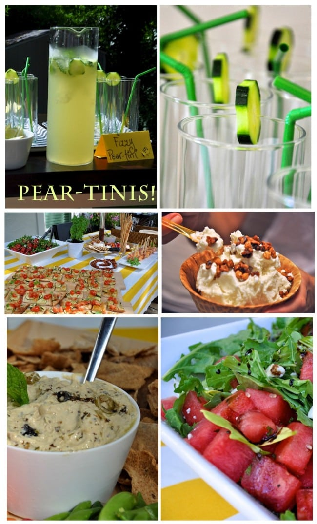 baby shower food, pear drinks, watermelon recipes