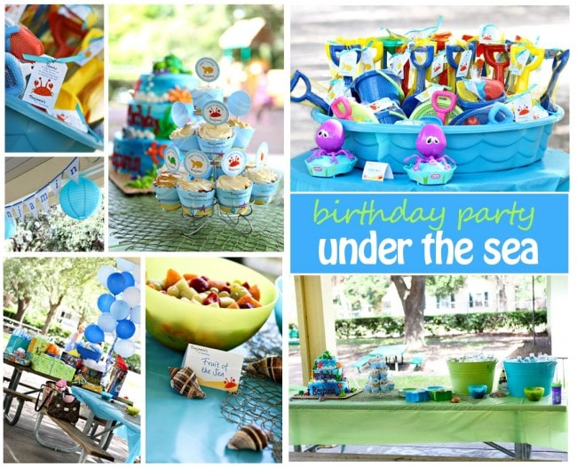 blue and green under the sea birthday party