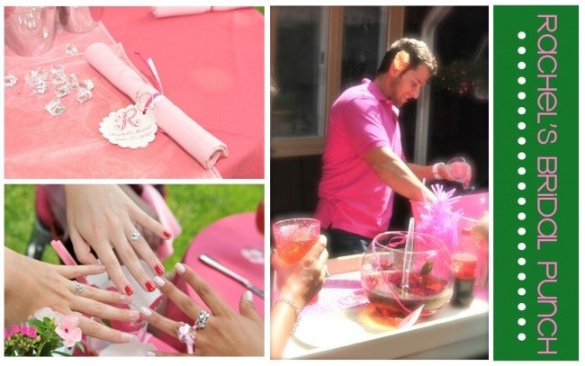 pink bridal shower punch