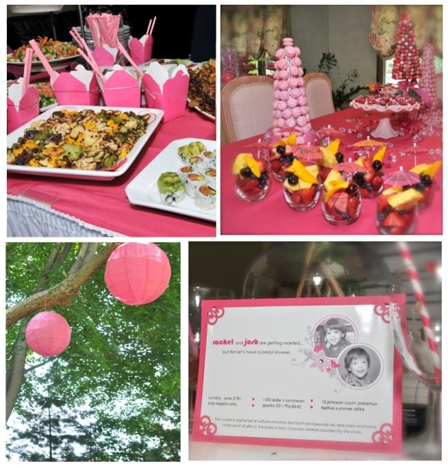 pink bridal shower pictures
