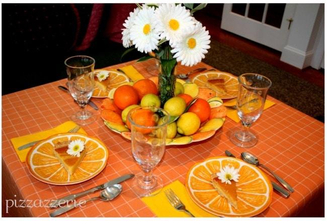 lemon and orange citrus table picture