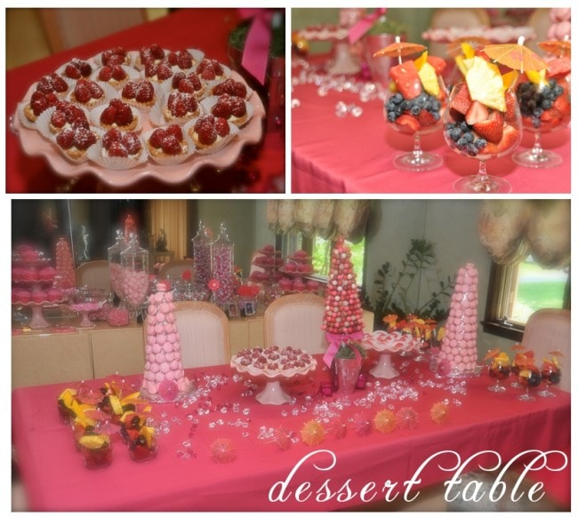 pink dessert table pictures