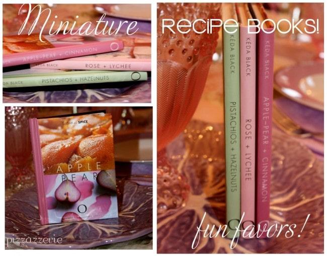 miniature recipe books favors