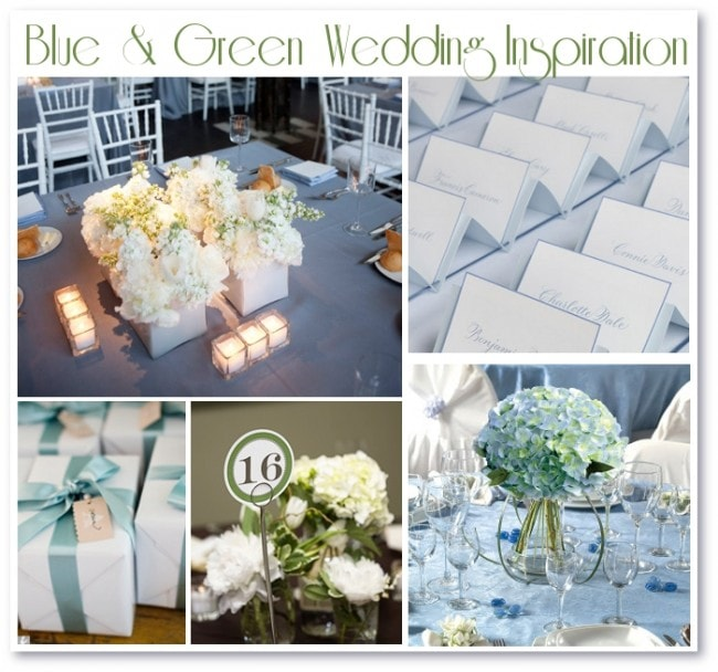 blue and green wedding inspiration