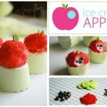 ice cream apples dessert