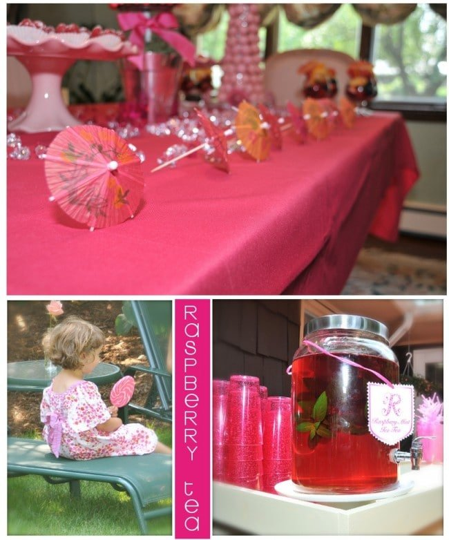 raspberry iced tea pictures from garden pink bridal shower