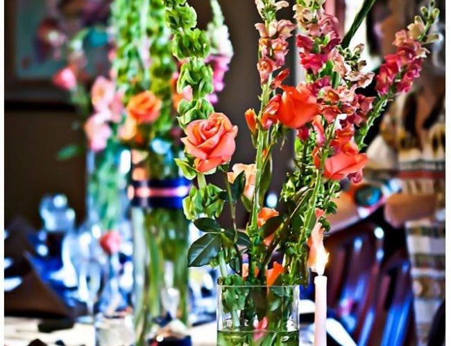 Navy & Coral Bridesmaid Luncheon