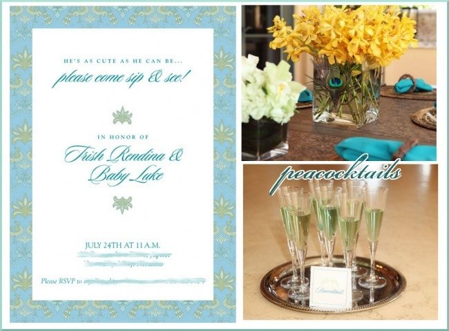 peacock party cocktails