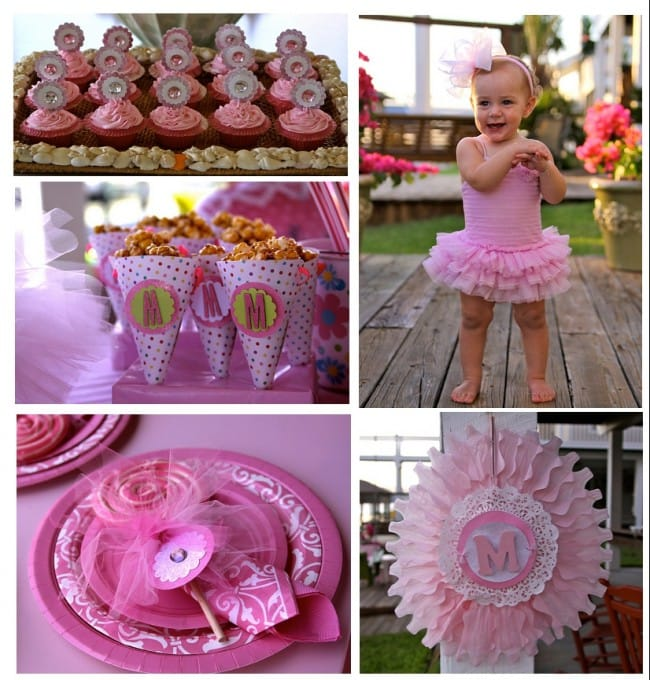 girl's pink sparkle party
