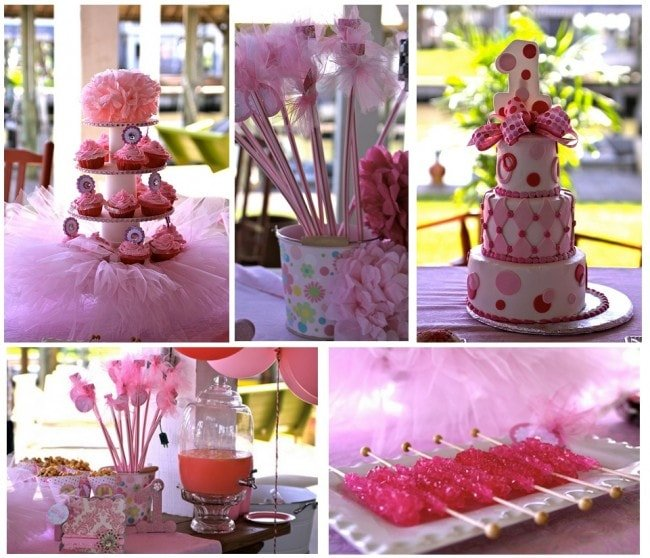 pink first birthday party pictures