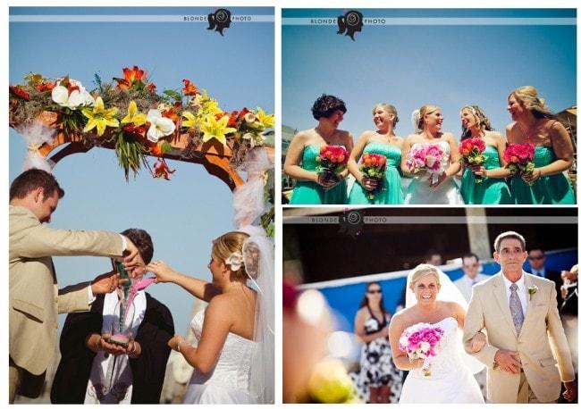 sea shore sand wedding ceremony