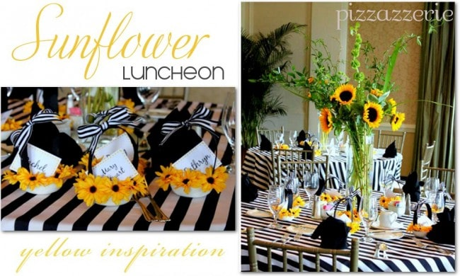 SUnflower Luncheon Party Table