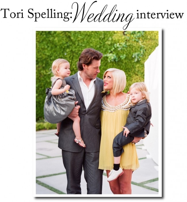 Tori Spelling Wedding Interview Picture