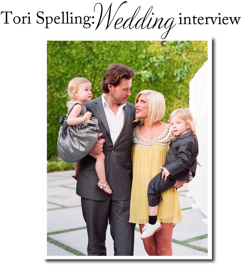 Tori Spelling Wedding Photos. Tori Spelling: Wedding