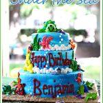 under the sea birthday party cake