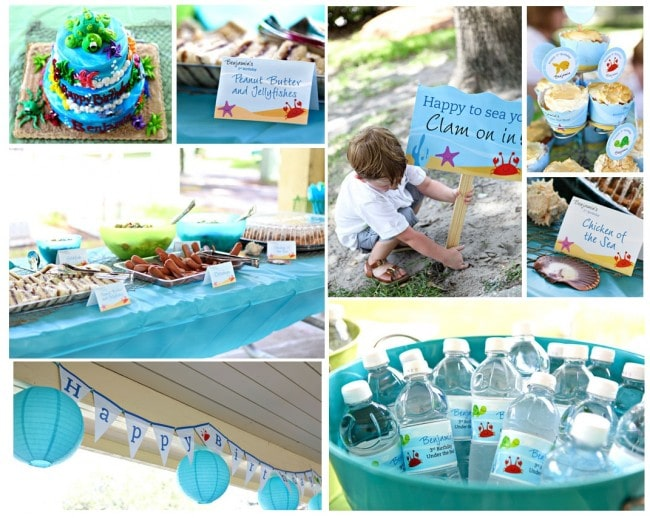 blue under the sea party