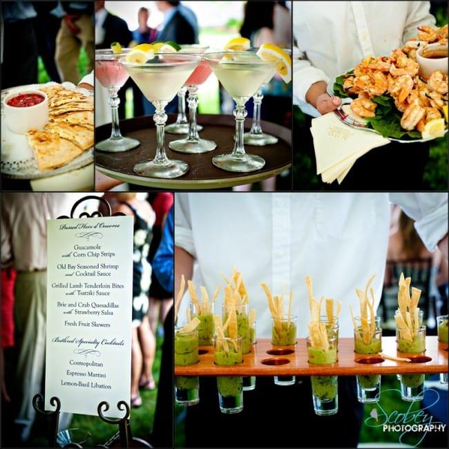 wedding party fancy appetizers