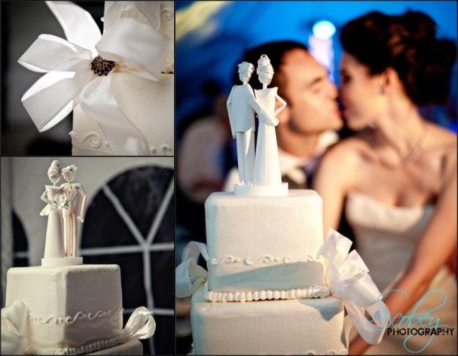 white wedding cake pictures