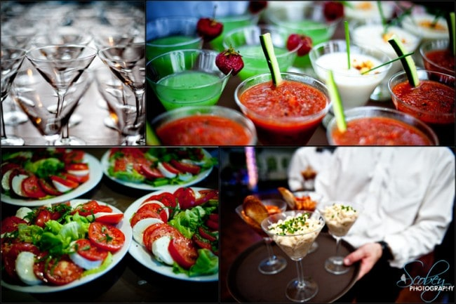wedding fancy food pictures