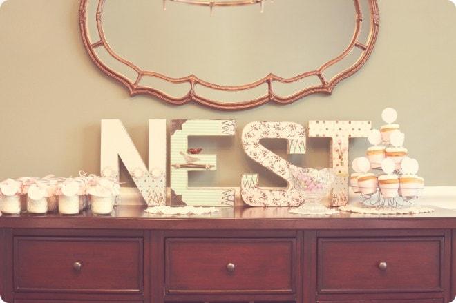 nesting baby shower